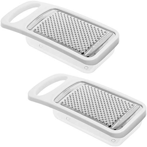 Com-four® 2x Rallador con recipiente colector - rallador de nuez moscada para su cocina - también...