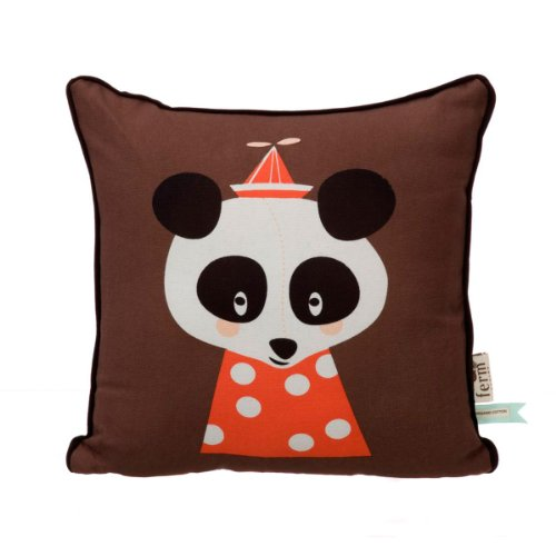 Ferm Living Kinderkissen Kissen 30 x 30 cm Posey Panda Cushion
