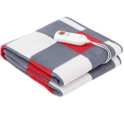 HUYYA heizdecken fürs Bett, Studentenwohnheim wärmedecke elektrisch -Safe & Warm Heizdecke,red_150X70CM