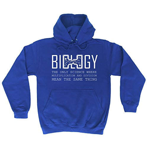 123t Biology The Only Science Division Mean The Same Thing - Hoodie Funny Fathers Day Christmas Casual Birthday Hoody