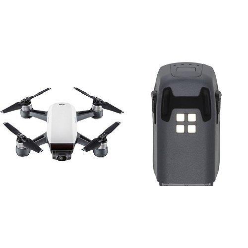 DJI Spark - Dron cuadricóptero (full hd, 12 mpx, 50 km/h, 16 minutos) color blanco alpino + Batería inteligente