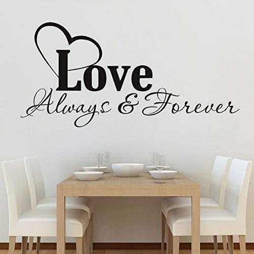 immer Wohnzimmer Schlafzimmer Home Decoration Sweet Vers Vinyl Wandaufkleber In der Wand An der Wand kleben 59x28 cm ()