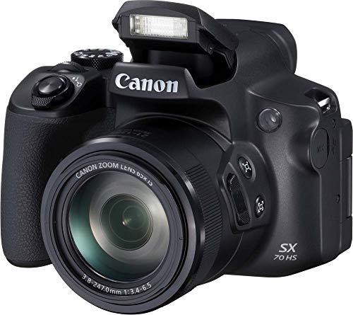 dslr mit wlan Canon PowerShot SX70 HS (20,3 Megapixel, 65fach optischer Zoom, Dreh- und schwenkbares 7,5cm LCD, WLAN, 4K-Video)