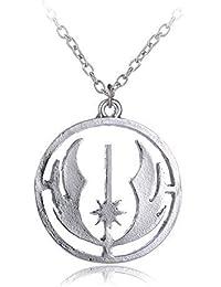 Colgante Collar Star Wars Jedi metal plateado