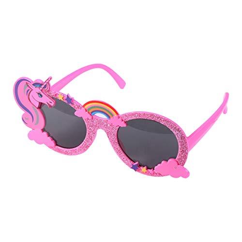 Amosfun Einhorn-Sonnenbrille mit Pailletten Strand Party Brille Selfie-Requisiten Brille Party Favors