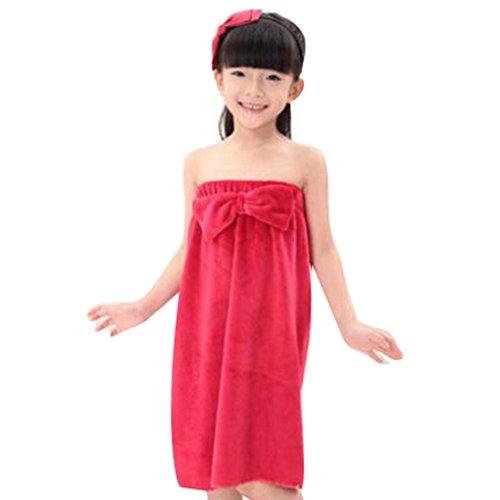 899207450ff1 Juleya Ragazze Carine Accappatoi Arco del Reggiseno Coral Velvet  Accappatoio vasca asciugamano rosso