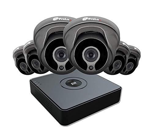 Prolux Hiwatch CCTV HD System Sicherheit 8CH Digital Video Recorder 1080P Ultra HD Lite 8 Kanal DVR HiWatch Serie DVR-108G IPKamera Systemüberwachung 8CH HD und 6x 2,4 Megapixel 1 Dome Lite-serie Dvr