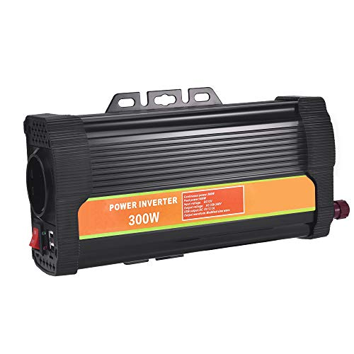 WZTO Convertisseur 1000W DC 12V vers AC 220V Voiture Transformateur Onduleur de Tension Voiture Onde sinusoïdale Puissance De Voiture Inverter pour Voiture Bateau Camper (300W)