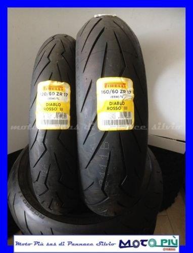 Preisvergleich Produktbild Paar Reifen Zug Reifen PIRELLI DIABLO rot III 120 / 60 - 17 160 / 60 - 17