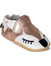 Baby Shoes Genuine Leather with Non-Slip Suede Soles Infant Moccasins for Boy,Girl,Newborns, Babies, Toddlers
