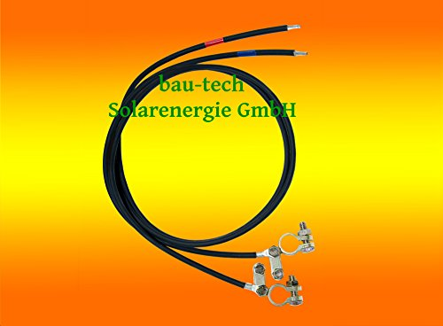 Batterie Anschlusskabel 6mm² 2 x 2 Meter von bau-tech Solarenergie GmbH