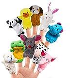 XQ-XQ 10 kleine Tierfingerpuppen und Fingerpuppen, weiche pädagogische Handpuppe Set Puppen Spielzeug für Baby und Kleinkinder,Mitgebsel Geschenk?Kinder Party?Gastgeschenk für Geburtstag? Weihnachten - XQ
