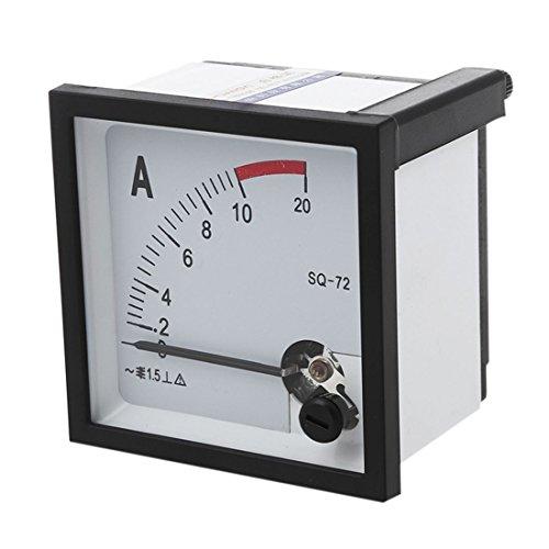 TOOGOO(R) Schraube montiert AC 10A quadratisch Panel Analog Current Meter Amperemeter Schwarz -