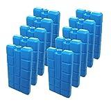 NEMT 10 Stück Kühlakkus Kühlelemente je 200ml für Kühltasche Oder Kühlbox bis 12 h Kühlpack Kühlakku