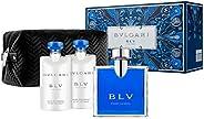Bvlgari Blv for Men Eau de Toilette 100ml+ 2 X 75ml Asb+Pouch (Soft Box) Set