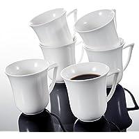 Malacasa, serie carina, 610oz tazze di porcellana bianco avorio Cina Ceramica Bianco Panna tazze Set