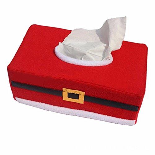 LUFA Natale Stile Babbo Natale Cintura Felt Tissue Box Case Holder Decorazione natalizia per la casa Ristorante Etc