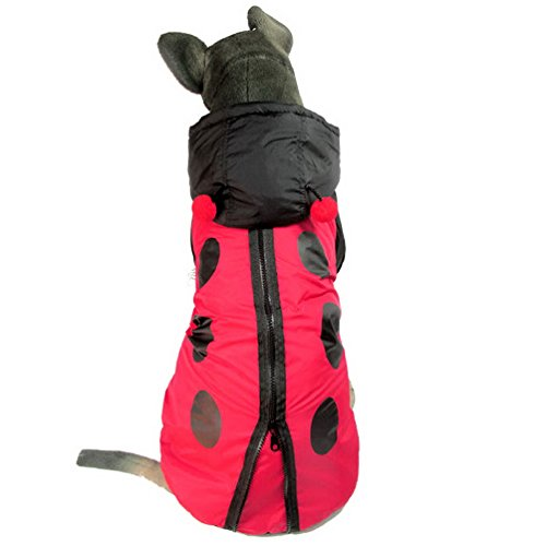 selmai Marienkäfer Kostüm Medium Hund Kleidung winddicht Trench Coat Hund Hoodie Kostüm Hund Winter Coat