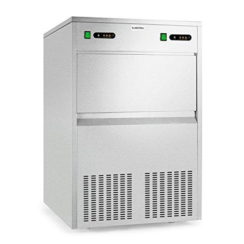 Klarstein Powericer Kings Eiswürfelmaschine Industrie-Eiswürfelbereiter (700 Watt, 100 kg / 24 h, geschmacksneutrale Innenverkleidung, Edelstahl-Gehäuse) silber
