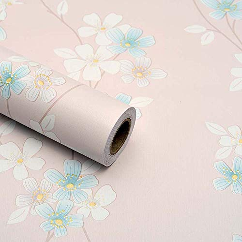 TaoGift Pink Floral Regal Schublade Liner selbstklebend Papier Tapete Rolle für Küchenschränke Kommode Wand Kunst und Handwerk Aufkleber 44,7 x 993 cm - Für Papier Kommode Schublade Liner