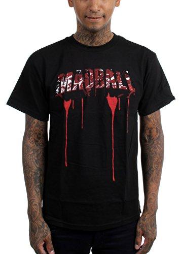 Madball-Maglietta da uomo, colore: rosso sangue nero Medium