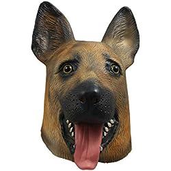 Gmasking látex perro pastor de la máscara de la cabeza Disfraz -party
