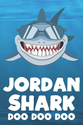 oo Doo: Blank Ruled Personalized & Customized Name Shark Notebook Journal for Boys & Men. Funny Sharks Desk Accessories Item for ... Supplies, Birthday & Christmas Gift Men. ()