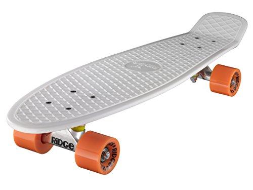 Ridge Skateboard Big Brother Nickel 69 cm Mini Cruiser, weiß/orange