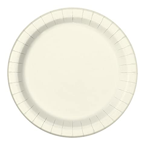 23cm Ivory Party Plates, Pack of 16
