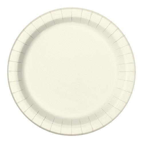 (Unique Party 21.9cm Party Teller, 8er Pack, Elfenbeinfarben)
