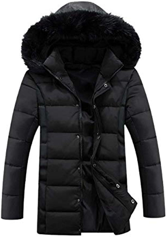 ... Giacca Lungo Invernale da Uomo Addensato Cappotto Coat Cappuccio Lungo  Giacca Giacca da Este a1c094 878511c481d