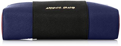 Armani Jeans 922544CC857, Borsa a tracolla Donna Nero (NERO-TWIL.BLU-BURGUN 41920)