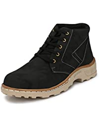 Fucasso Men's Smart Fit Outlandish Black Casual Boot Shoes