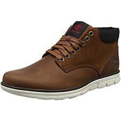 Timberland Bradstreet Chukka Leather, Bottines Homme, Marron (MD Brown Full Grain), 43.5 EU