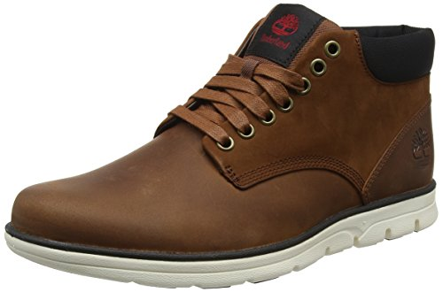 Timberland Bradstreet Leather Sensorflex, Botas Chukka para Hombre, Marrón (MD Brown Full Grain), 41 EU
