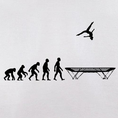 Evolution of Man - Trampolinspringen - Herren T-Shirt - 13 Farben Weiß
