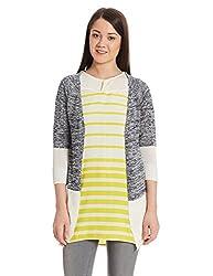 US POLO Womens Cotton Sweatshirt (UWFL0138_Blue_Small)