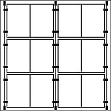6/x doppelt A4/hoch Kabel Fenster Display