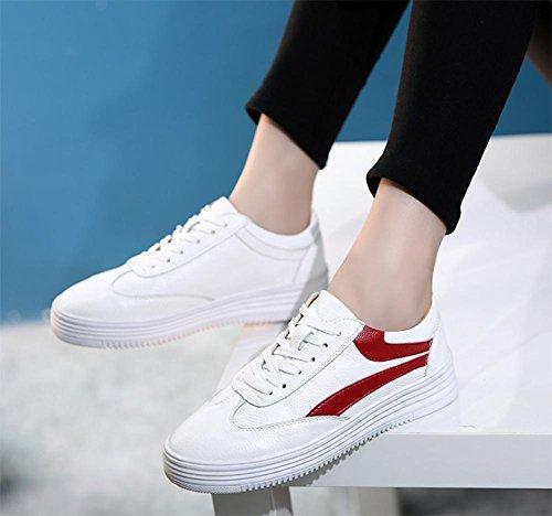 Studenten Laufschuhe schnüren beiläufige Schuhe Aufzug Schuhe fallen Ms. Red