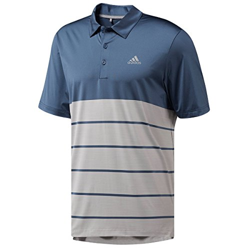 Adidas Golf Shirt Blau (adidas Herren Poloshirt Gr. L, Tech Ink/Grey)