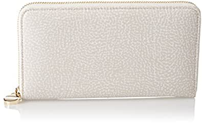 P.foglio Zip Around, Womens Wallet, Off-White (Cream), 19x11x2 cm (W x H x L) Borbonese