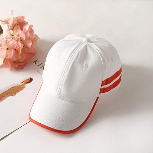 FXSYL Sommer Baseball Cap Männer Frauen Sport Style Papa Hut Streetwear Hip Hop Baumwolle Orange Weiß Snapback Full Caps,Weiß