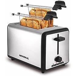 Mondial Smart Day 4Slice Toaster-Grille-pain et appareil à croque-monsieur, couleur argent