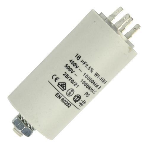 Anlaufkondensator mit Flach STECKER (Motorkondensator) 16uF 16µF Anlaufkondensator Betriebskondensator Motor
