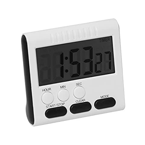 Ginsco Kitchen Timer Alarm Magnetic Large LCD Digital Count Up Down Egg Clock 24 Hours for Home House Cooking Dinner Lunch Breakfast