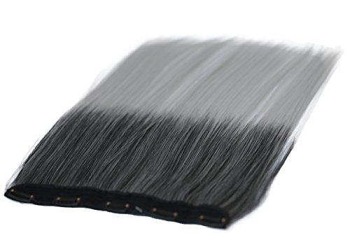 Prettyshop xxl 5 clips one piece di clip in extension parrucche dei capelli lisci a pelo lungo 60 cm ombre grigio mix # 1tgray c73