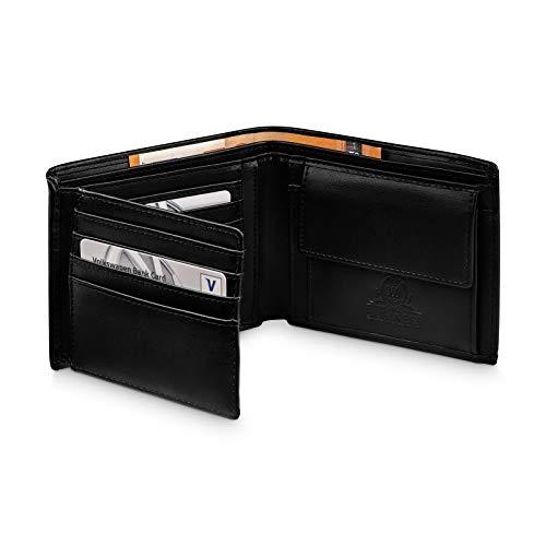 360°Business Geldbörse Herren mit 12 Kartenfächern - Sichtfach - RFID Schutz - Portemonnaie...