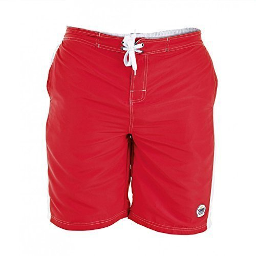Duke D555 Groß Hoch King-size Herren Schwimmend Trunks Boardshorts Rot