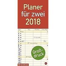 Großdruck Planer für zwei - Kalender 2018