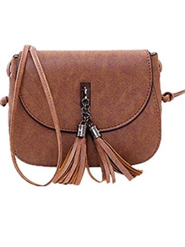 19353c6fbc93c Ammon Lowen Damen Umhängetasche Mini Kreuz Körper Frauen Handtasche Bodybag  Mini kleine Schale Taschen Braun